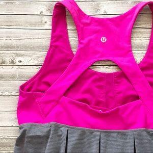 Lululemon Run Your Heart Out Tank Paris Pink Grey